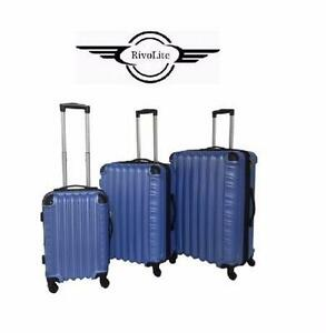 NEW RIVOLITE HARD SPINNER SET   RIVOLITE ROMA BLUE- LIGHTWEIGHT SUITCASE LUGGAGE TRAVEL GEAR BAG VACATION  85251567