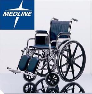 "NEW MEDLINE WHEELCHAIR 16""   ECON PLUS, DESK ARM, Navy - MEDICAL MOBILITY AID WHEEL CHAIR 98737049"