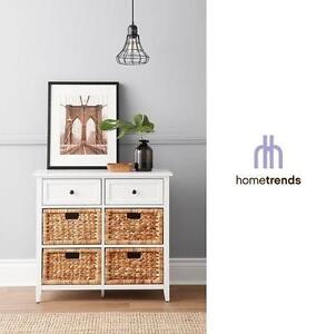 "NEW HOMETRENDS STORAGE UNIT 6 DRAWER WHITE 30"" W x 13"" D x 27.8"" H 105924932"