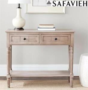 NEW SAFAVIEH CONSOLE TABLE GREY LIVING ROOM FURNITURE SIDE TABLE COUCH DESK  ENTRYWAY 90475578