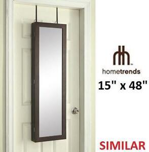 NEW* HT  DOOR STORAGE MIRROR - 110710344 - HOMETRENDS - OVER THE DOOR STORAGE MIRROR FOR JEWELRY AND ACCESSORIES