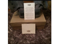 Grey Cardy Knitted Ugg Boots