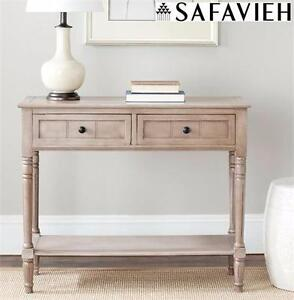 NEW SAFAVIEH CONSOLE TABLE GREY   LIVING ROOM FURNITURE SIDE TABLE COUCH DESK  ENTRYWAY 84785794