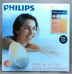 NEW Philips HF3510/60 Wake-Up Light, White Helps with S.A.D Wake