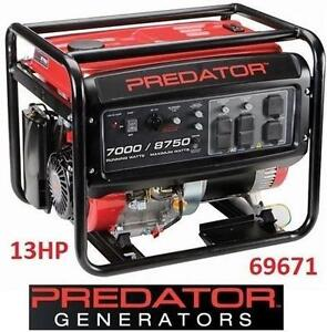 USED PREDATOR 13HP GAS GENERATOR - 123832887 - 8750 Peak/7000 Running Watts 420CC
