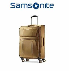 "NEW SAMSONITE 29"" SPINNER SUITCASE   KHAKI 29"" SPINNER LUGGAGE SUITCASE TRAVEL BAGGAGE 97362726"
