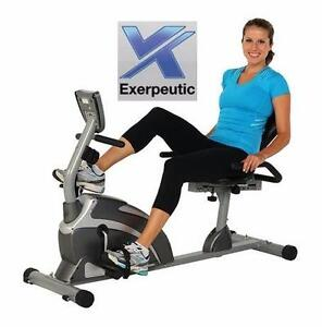 NEW* EXERPEUTIC RECUMBENT BIKE 900XL - W/ PULSE EXTENDED CAPACITY EXERCISE EQUIPMENT FITNESS  85760521