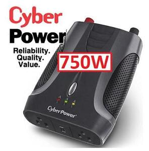 NEW CYBERPOWER 750w POWER INVERTER Automotive Tools Equipment Portable Power with USB Port and 2 OUTLETS  79630566