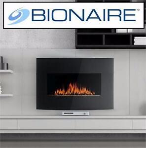 """NEW BIONAIRE 22"""" ELECTRIC FIREPLACE WALL MOUNT 1500W REMOTE HEATER HEATING HEATERS FIREPLACES FIREBOX FIREBOXES 84066923"""
