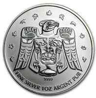 Silver Maple Leaf (Thunderbird privy coin) .9999 pure
