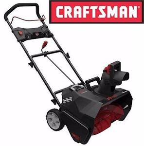 """USED CRAFTSMAN 40V SNOWBLOWER BRUSHLESS SNOW THROWER - 20"""" CLEARING WIDTH HOME OURDOOR SNOW REMOVAL 94136951"""