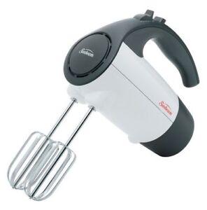 Sunbeam 2524-33 6-Speed 200 Watt Hand Mixer, White