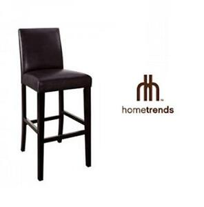 """NEW HOMETRENDS PARSONS BAR STOOL 29"""" - BROWN CHAIR, BAR STOOL Furniture  Kitchen Dining Room 76477216"""