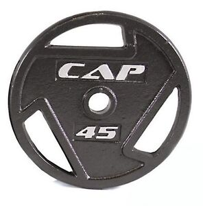 """45 lb olympic 2"""" grip steel weight plates for barbell lbs"""