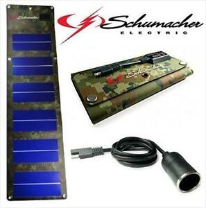 NEW SCHUMACHER 6W SOLAR CHARGER FOLDABLE OUTDOORS  Electronics  Batteries  Power  Batteries  Battery chargers 105796233