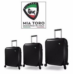 NEW MIA TORO 3PC SPINNER SET   SPINNER HONTUS FIBRE DI CARBONIO - LUGGAGE - SUITCASE - TRAVEL ITALIAN HARDSIDE 97650892