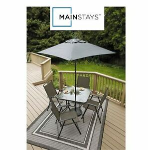 CLEARANCE Brand New In Box Mainstays 6 Piece Folding Patio Set