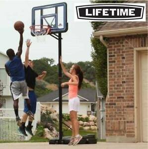 """NEW LIFETIME BASKETBALL SYSTEM 90023 189433881 PORTABLE BASKETBALL SYSTEM 44"""" NETS OUTDOOR RECREATION"""