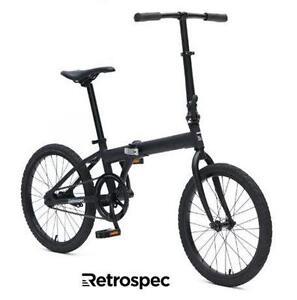 NEW RETROSPEC SPECK FOLDING BICYCLE - 119124741 - MATTE BLACK 20 INCH BIKE