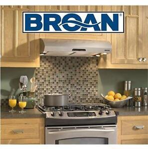 "NEW BROAN SS ALLURE RANGE HOOD 36"" STAINLESS STEEL - 220CFM - KITCHEN HOME APPLIANCE"