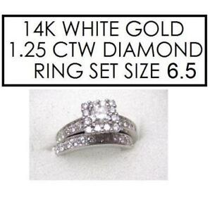 NEW* 2PC STMPED 14K DIAMOND RING 198859544 SIZE 6.5 STAMPED 14K RPG JEWELLERY JEWELRY WHITE GOLD 1.25 CTTW
