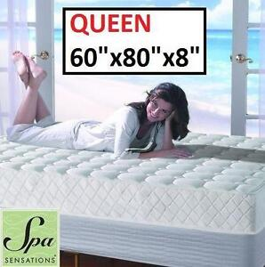 "NEW SPA SENSATIONS SPRING MATTRESS Q QUEEN MATTRESS - BED - SLEEP - 8"" - BEDROOM FURNITURE HOME  83185856"