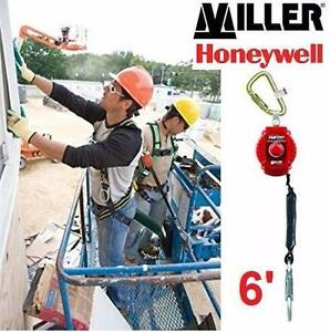NEW MILLER TURBOLITE FALL LIMITER   PERSONAL FALL LIMITER W/ STEEL TWIST-LOCK CARABINER WORK SAFETY EQUIPMENT 90956272