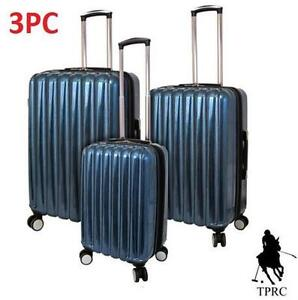 NEW TPRC NOVA 3PC SPINNER LUGGAGE SUITCASE - TEAL - EXPANDABLE - VACATION - TRAVEL GEAR BAG