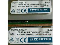 16gb kit (2x8gb) Hypertec Pc2 - 5300f fully buffered ram