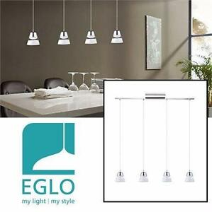 NEW EGLO PANCENTO LED PENDANT LIGHT   Chrome Finish With White Shade HOME INDOOR CEILING LIGHTING DECOR 98195230