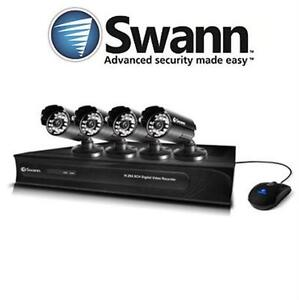 REFURB SWANN SECURITY CAMERA SYSTEM 4 CAMERAS DVR RECORDER 500GB SATA HDD - HOME SURVEILLANCE KIT  NIGHT VISION 77689579
