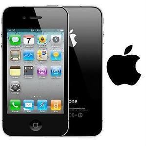 NEW APPLE IPHONE 4 8GB LOCKED BLACK - CELL PHONE - SMARTPHONE SMART PHONE
