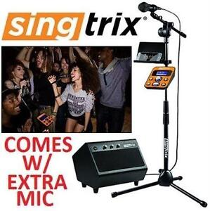USED SINGTRIX PARTY KARAOKE SYSTEM - 118164705 - Party Bundle Premium Edition Home Karaoke System - TWO MICROPHONES - 2