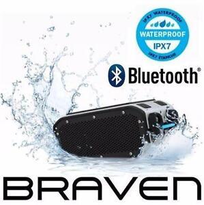 REFURB BRAVEN BLUETOOTH SPEAKER   PORTABLE HD BLUETOOTH WIRELESS SPEAKER - SILVER/BLACK ELECTRONICS AUDIO DOCK 98202646
