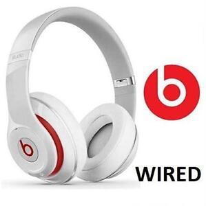 NEW OB BEATS STUDIO 2.0 HEADPHONES OVER-EAR - MUSIC - WHITE DR DRE WIRED  90507431