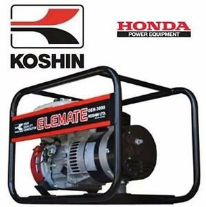 NEW KOSHIN 3000 W WATT GENERATOR  HONDA GX160 - 5.5 HP - HYDRAULICS PUMPS PLUMBING TOOLS POWER REPAIR 91329861