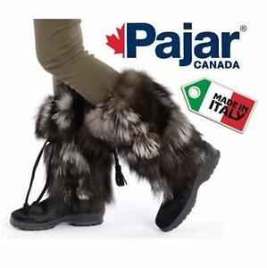 NEW PAJAR BOOTS WOMEN'S 9-9.5   WOMEN'S 9 - WOMEN'S 9.5 - BLACK - FOX FUR LADIES WINTER BOOT 97277197
