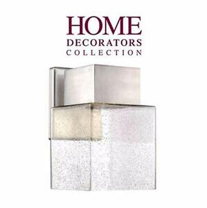 NEW* HDC OUTDOOR LED WALL LANTERN HOME DECORATORS COLLECTION - ESSEX BRUSHED NICKEL - LED POWERED - HOME  83038103