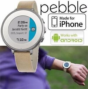 REFURB PEBBLE TIME RND SMARTWATCH ELECTRONICS - WATCHES - ROUND - STONE -14MM  I-PHONE ANDROID 84206794
