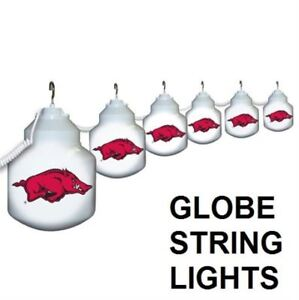 ARKANSAS RAZORBACKS GLOBE STRING LIGHTS