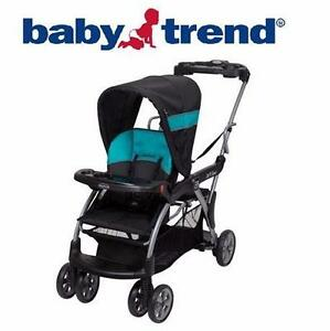 NEW BABY TREND SIT & STAND STROLLER   SIT AND STAND DELUXE BABY STROLLER - BOLT  89956792