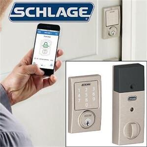 NEW SCHLAGE SENSE SMART DEADBOLT DOOR LOCK - CENTURY TRIM IN SATIN NICKEL DOOR HARDWARE  79983268