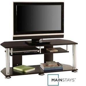 "NEW MAINSTAYS TV STAND 43"" BLACK TELEVISION - UNIT - STORAGE 107167023"