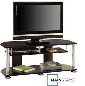 "NEW MAINSTAYS TV STAND 43"" BLACK TELEVISION - UNIT - STORAGE 107167023"