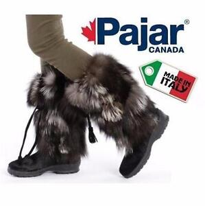 NEW PAJAR BOOTS WOMEN'S 7-7.5   WOMEN'S 7 - WOMEN'S 7.5 - BLACK - FOX FUR LADIES WINTER BOOT SHOES 97277757