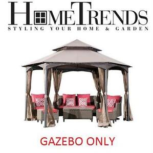 NEW HOMETRENDS 12' VALENCE GAZEBO  HOME GARDEN PATIO SHADE FURNITURE OUTDOOR Canopies Canopy Living 77201047