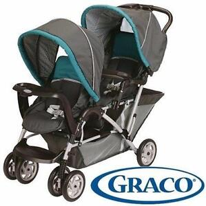 NEW GRACO DUOGLIDER TANDEM STROLLER   FOLDING - DOUBLE BABY STROLLER - DRAGONFLY BABY TRAVEL GEAR 97847411