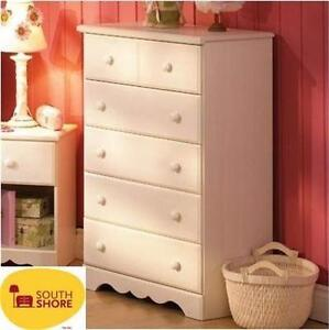 NEW SOUTH SHORE 5-DRAWER CHEST WHITE WASH L 31.00 inches x W 16.00 inches x H 45.00 inches x W 77.00 pounds  90468933