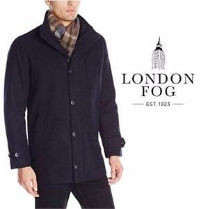 NEW LONDON FOG COAT MEN'S SM   NAVY - JACKET  DRESS FORMAL CASUAL APPAREL OUTDOOR  84062848