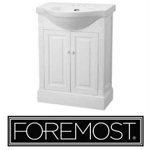 """NEW* FOREMOST 25"""" VANITY COMBO SALERNO WHITE INCLUDES CABINET TOP BASIN BATHROOM FURNITURE 77095274"""